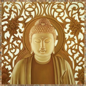 Budha meditation gold